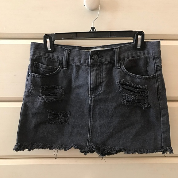 ffbf6e8aa6 Brandy Melville Skirts | Distressed Mini Skirt | Poshmark
